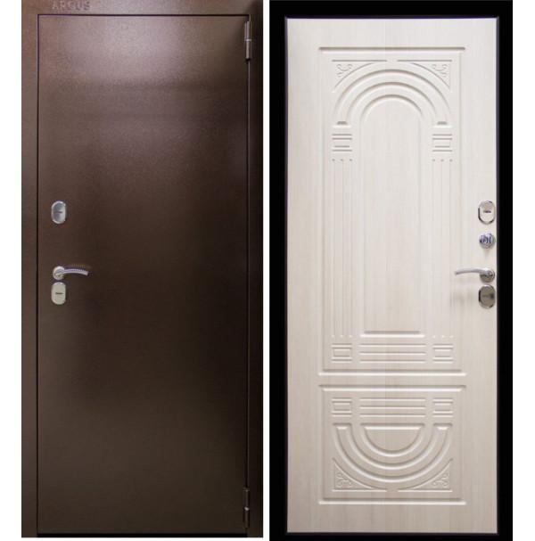 Входная дверь Аргус Термо Композит (беленый дуб) Терморазрыв